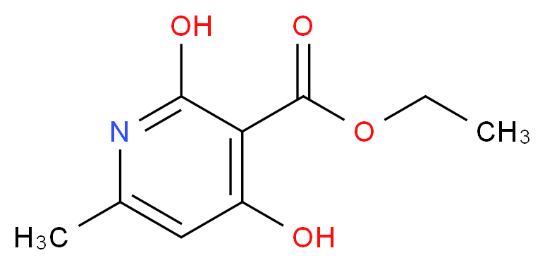 Ethyl 2,4-dihydroxy-6-methyl-3-pyridine-carboxylate_Molecular_structure_CAS_70254-52-3)
