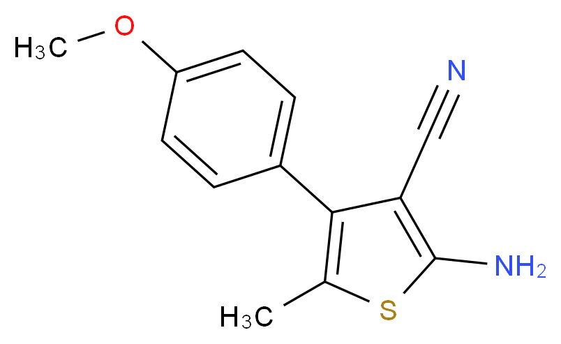2-Amino-4-(4-methoxyphenyl)-5-methylthiophene-3-carbonitrile_Molecular_structure_CAS_)