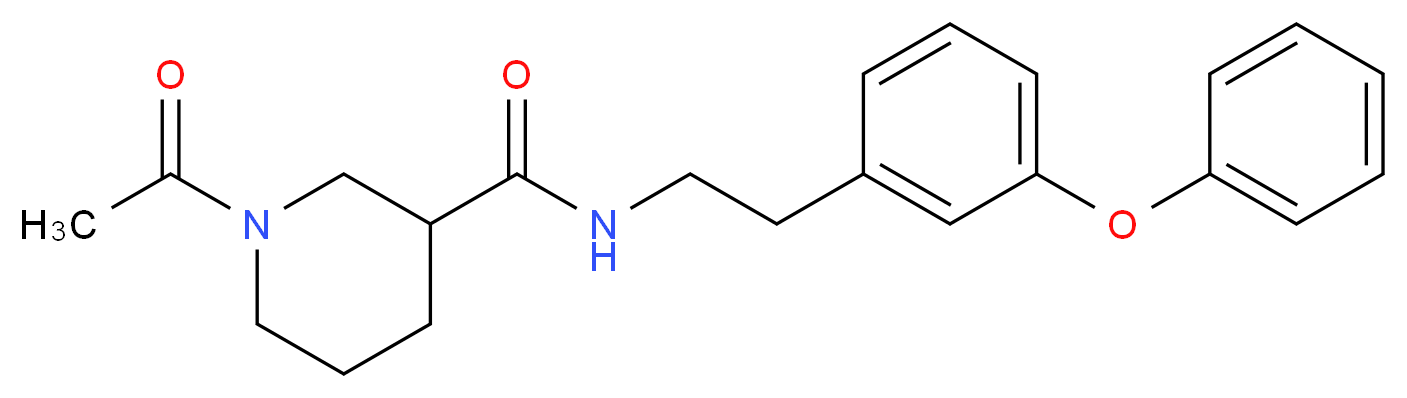 1-acetyl-N-[2-(3-phenoxyphenyl)ethyl]-3-piperidinecarboxamide_Molecular_structure_CAS_)