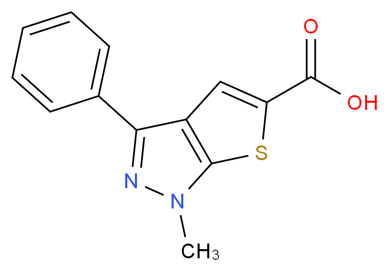 1-Methyl-3-phenyl-1H-thieno[2,3-c]pyrazole-5-carboxylic acid_Molecular_structure_CAS_25252-47-5)