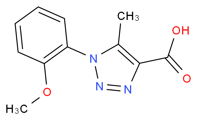1-(2-Methoxy-phenyl)-5-methyl-1H-[1,2,3]triazole-4-carboxylic acid_Molecular_structure_CAS_)
