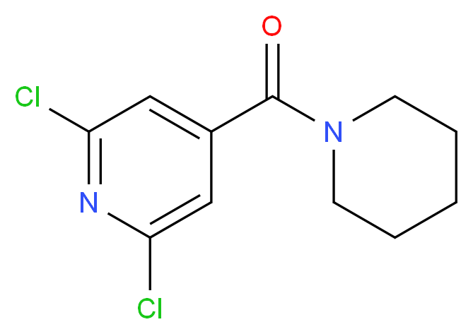 2,6-Dichloro-4-(piperidin-1-ylcarbonyl)pyridine_Molecular_structure_CAS_287196-80-9)