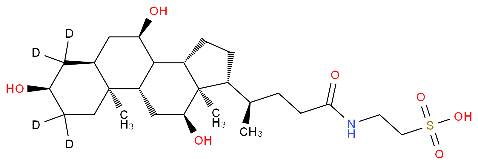 Taurocholic Acid-d4DISCONTINUED. See T008852_Molecular_structure_CAS_252030-90-3)