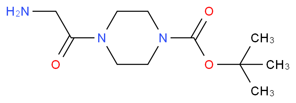 tert-butyl 4-(2-aminoacetyl)piperazine-1-carboxylate_Molecular_structure_CAS_)