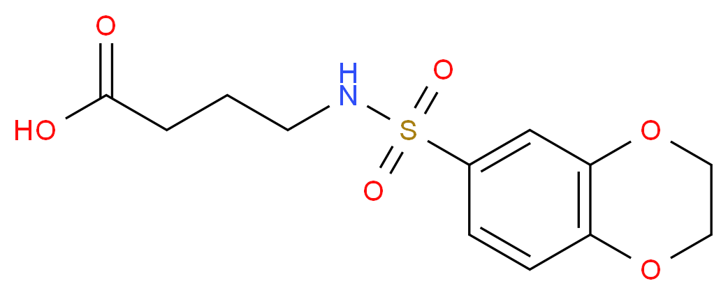 4-(2,3-Dihydro-benzo[1,4]dioxine-6-sulfonylamino)-butyric acid_Molecular_structure_CAS_300571-94-2)