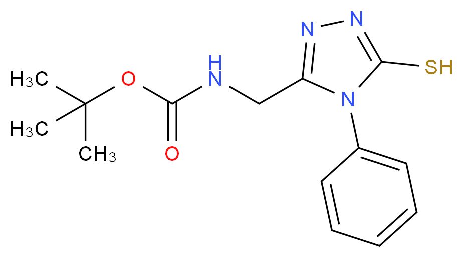 tert-butyl N-[(5-mercapto-4-phenyl-4H-1,2,4-triazol-3-yl)methyl]carbamate_Molecular_structure_CAS_306935-45-5)