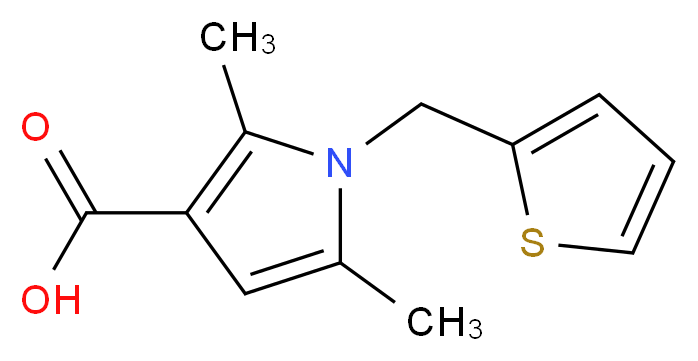 2,5-dimethyl-1-(2-thienylmethyl)-1H-pyrrole-3-carboxylic acid_Molecular_structure_CAS_306936-14-1)