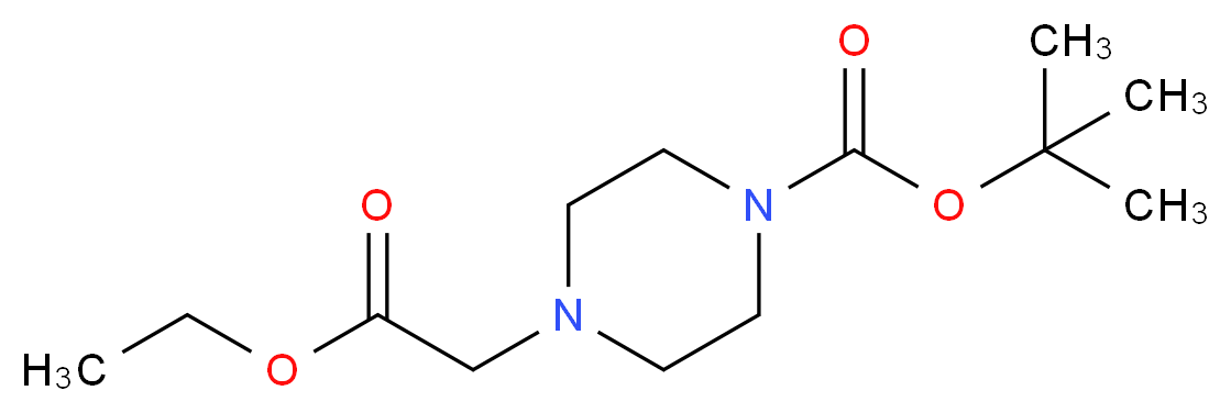 tert-Butyl 4-[(ethoxycarbonyl)methyl]-piperazine-1-carboxylate_Molecular_structure_CAS_209667-59-4)