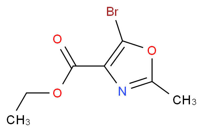 Ethyl 5-bromo-2-methyloxazole-4-carboxylate_Molecular_structure_CAS_)