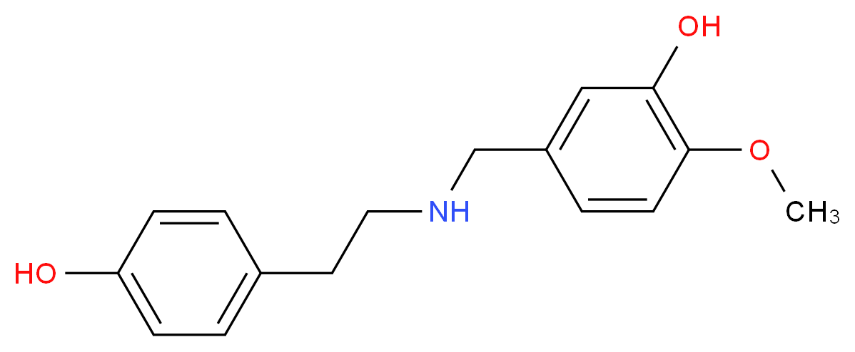 N-(p-Hydroxyphenethyl)-N-(3-hydroxy-4-methoxy)benzylamine_Molecular_structure_CAS_4579-60-6)