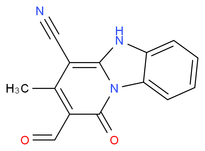 2-formyl-3-methyl-1-oxo-1,5-dihydrobenzo[4,5]imidazo[1,2-a]pyridine-4-carbonitrile_Molecular_structure_CAS_)