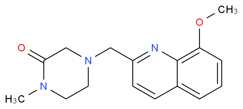 4-[(8-methoxy-2-quinolinyl)methyl]-1-methyl-2-piperazinone_Molecular_structure_CAS_)
