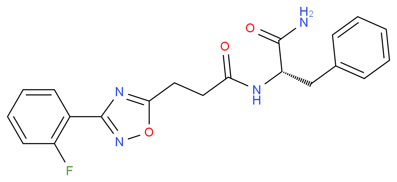 (2S)-2-({3-[3-(2-fluorophenyl)-1,2,4-oxadiazol-5-yl]propanoyl}amino)-3-phenylpropanamide_Molecular_structure_CAS_)