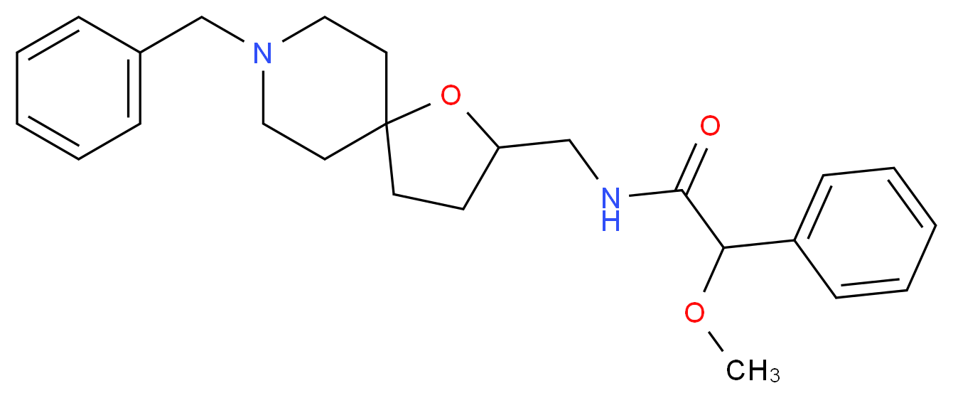 N-[(8-benzyl-1-oxa-8-azaspiro[4.5]dec-2-yl)methyl]-2-methoxy-2-phenylacetamide_Molecular_structure_CAS_)