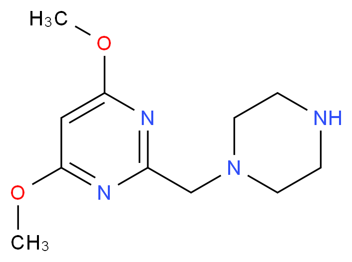 1-[(4,6-Dimethoxypyrimidin-2-yl)methyl]piperazine_Molecular_structure_CAS_)