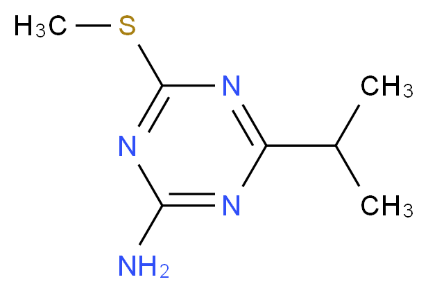2-Amino-4-isopropyl-6-(methylthio)-1,3,5-triazine_Molecular_structure_CAS_175204-55-4)