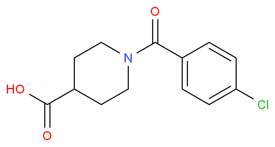 1-(4-Chlorobenzoyl)-4-piperidinecarboxylic acid_Molecular_structure_CAS_379724-54-6)