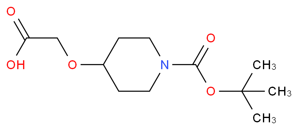 4-Carboxymethoxy-piperidine-1-carboxylic acid tert-butyl ester_Molecular_structure_CAS_)