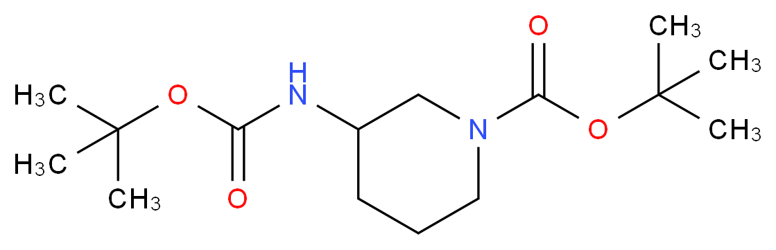 tert-Butyl 3-((tert-butoxycarbonyl)amino)piperidine-1-carboxylate_Molecular_structure_CAS_1217710-80-9)
