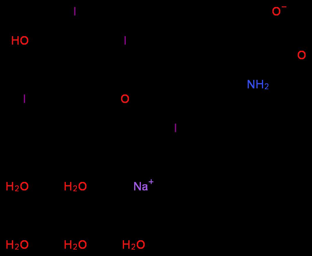 6106 07 6 T4 Sodium Levothyroxine L Thyroxine Sodium Salt