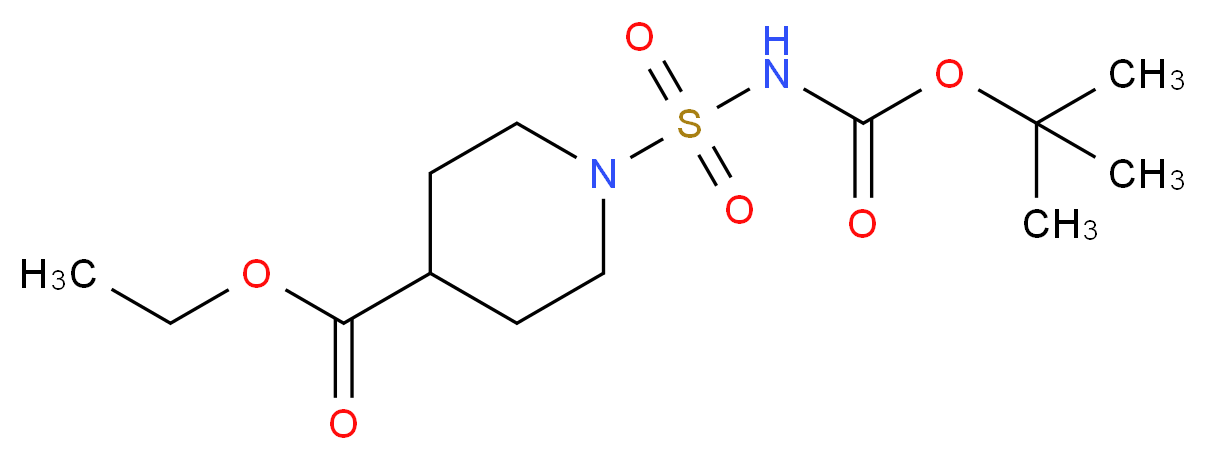 4-(Ethoxycarbonyl)piperidine-1-sulphonamide, N-BOC protected_Molecular_structure_CAS_)
