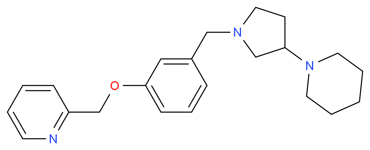 2-({3-[(3-piperidin-1-ylpyrrolidin-1-yl)methyl]phenoxy}methyl)pyridine_Molecular_structure_CAS_)