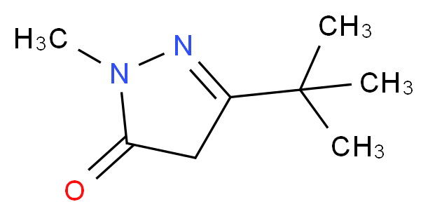 3-tert-Butyl-1-methyl-2-pyrazolin-5-one_Molecular_structure_CAS_87031-30-9)