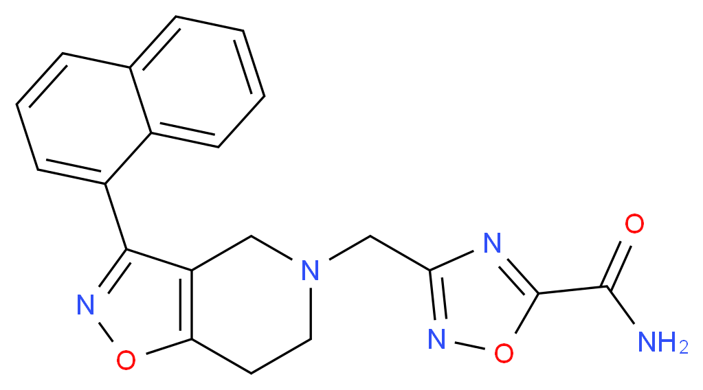 3-{[3-(1-naphthyl)-6,7-dihydroisoxazolo[4,5-c]pyridin-5(4H)-yl]methyl}-1,2,4-oxadiazole-5-carboxamide_Molecular_structure_CAS_)