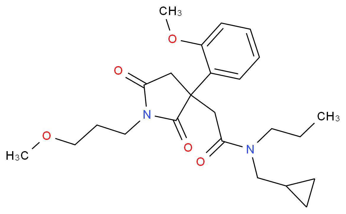 N-(cyclopropylmethyl)-2-[3-(2-methoxyphenyl)-1-(3-methoxypropyl)-2,5-dioxo-3-pyrrolidinyl]-N-propylacetamide_Molecular_structure_CAS_)