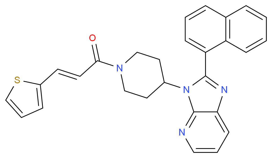 2-(1-naphthyl)-3-{1-[(2E)-3-(2-thienyl)-2-propenoyl]-4-piperidinyl}-3H-imidazo[4,5-b]pyridine_Molecular_structure_CAS_)