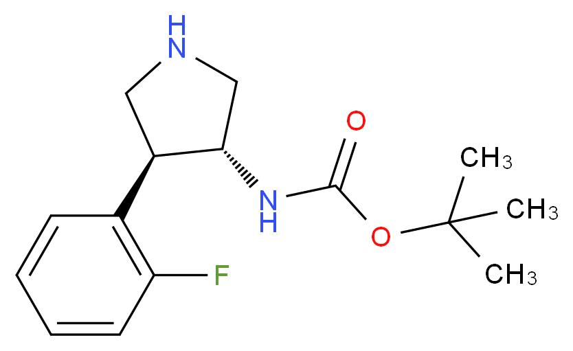 tert-butyl (3R,4S)-4-(2-fluorophenyl)pyrrolidin-3-ylcarbamate_Molecular_structure_CAS_1260617-75-1)