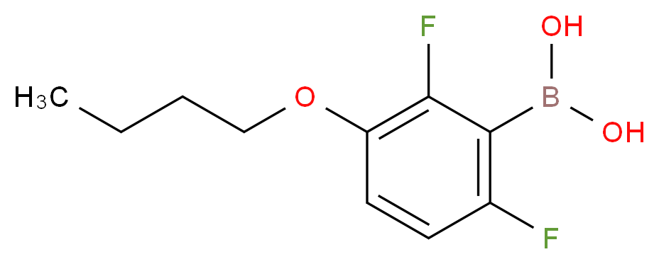 3-Butoxy-2,6-difluorophenylboronic acid_Molecular_structure_CAS_849062-15-3)