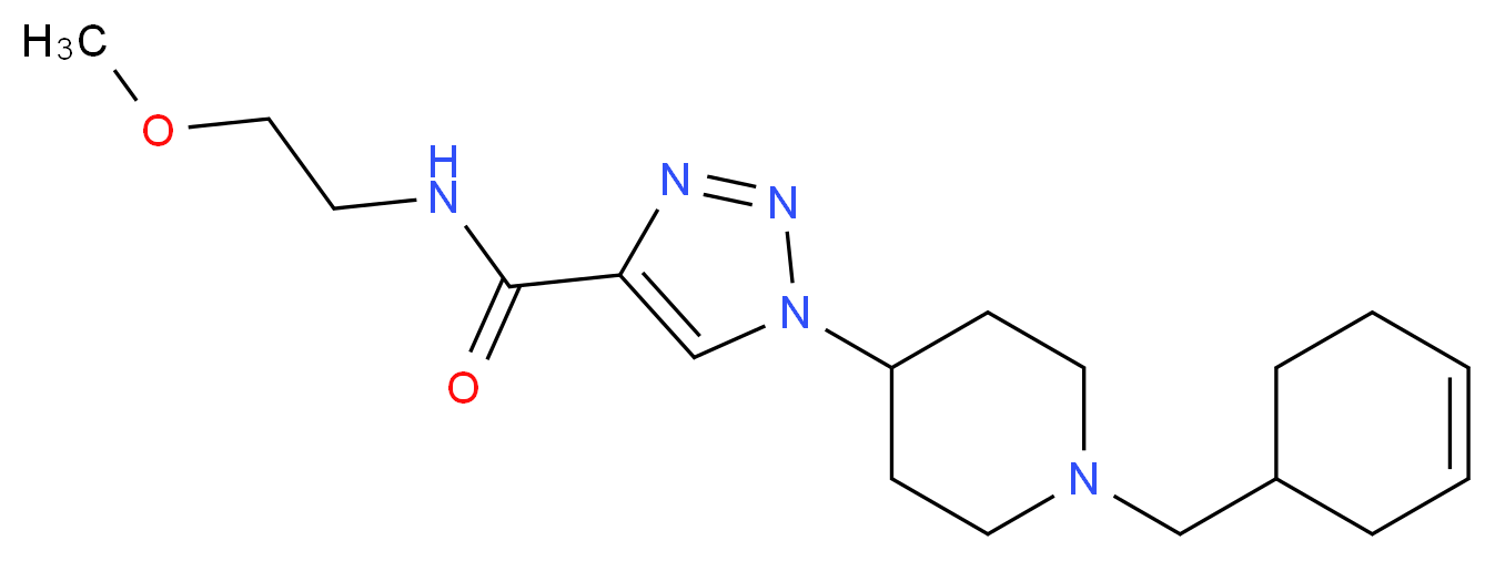 1-[1-(3-cyclohexen-1-ylmethyl)-4-piperidinyl]-N-(2-methoxyethyl)-1H-1,2,3-triazole-4-carboxamide_Molecular_structure_CAS_)