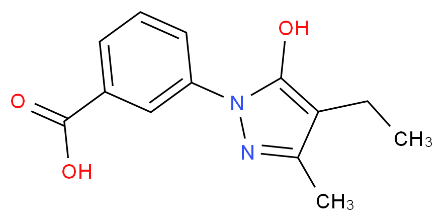 3-(4-Ethyl-5-hydroxy-3-methyl-pyrazol-1-yl)-benzoic acid_Molecular_structure_CAS_)
