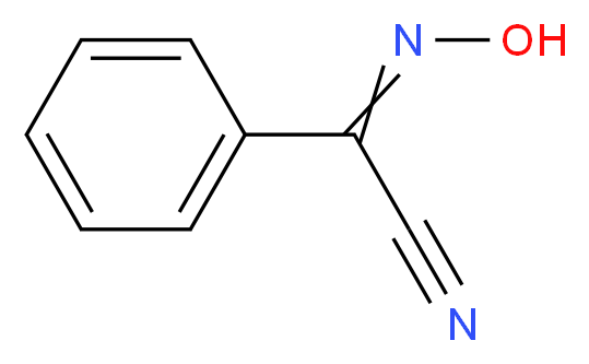 2-Hydroxyimino-2-phenylacetonitrile, mixture of syn and anti_Molecular_structure_CAS_825-52-5)