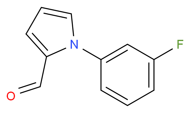 1-(3-Fluoro-phenyl)-1H-pyrrole-2-carbaldehyde_Molecular_structure_CAS_383136-19-4)