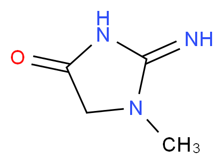 2-imino-1-methylimidazolidin-4-one_Molecular_structure_CAS_)