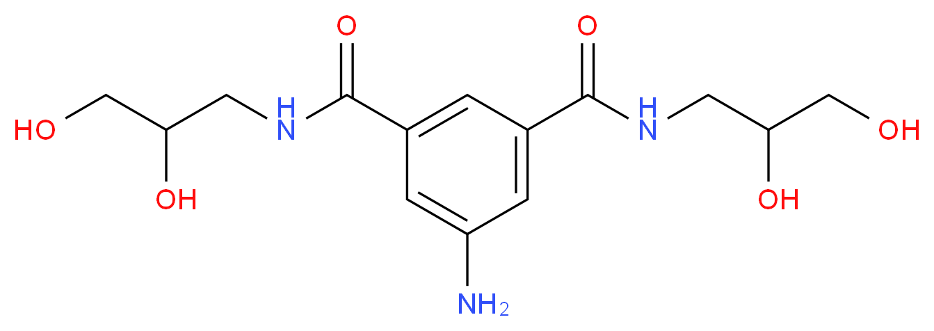 5-amino-N,N'-bis(2,3-dihydroxypropyl)isophthalamide_Molecular_structure_CAS_203515-86-0)