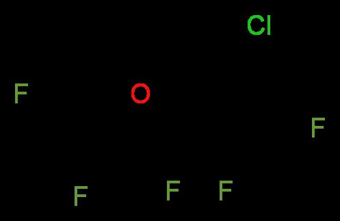 2 Chloro 112 Trifluoroethyl Difluoromethyl Ether Molecular Structure CAS 13838 16