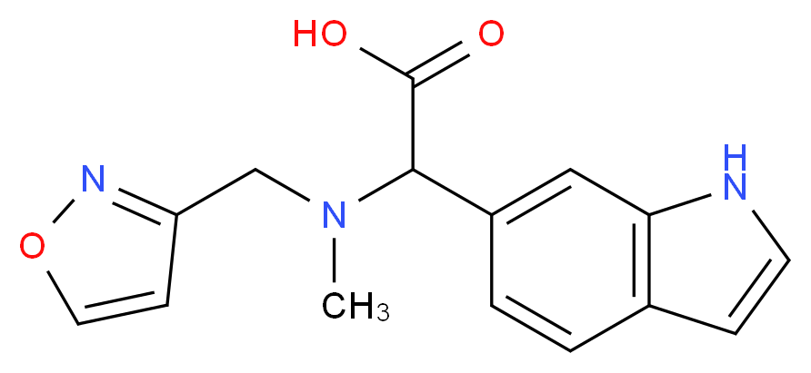 1H-indol-6-yl[(isoxazol-3-ylmethyl)(methyl)amino]acetic acid_Molecular_structure_CAS_)