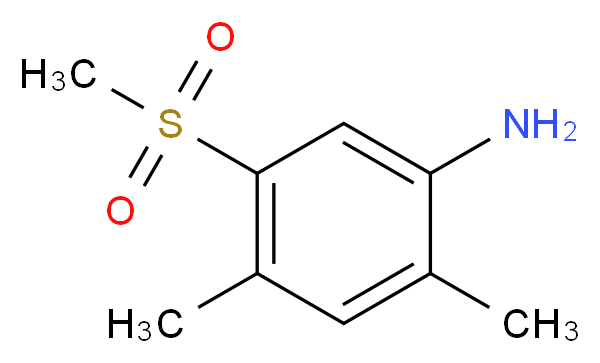 2,4-Dimethyl-5-(methylsulfonyl)aniline_Molecular_structure_CAS_849035-63-8)