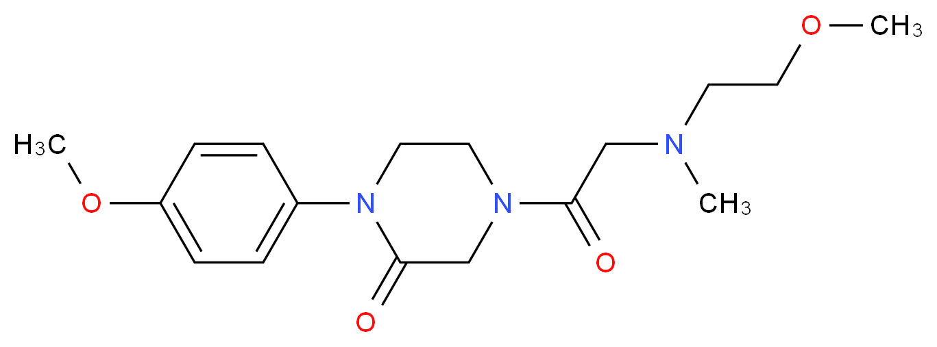 4-[N-(2-methoxyethyl)-N-methylglycyl]-1-(4-methoxyphenyl)-2-piperazinone_Molecular_structure_CAS_)