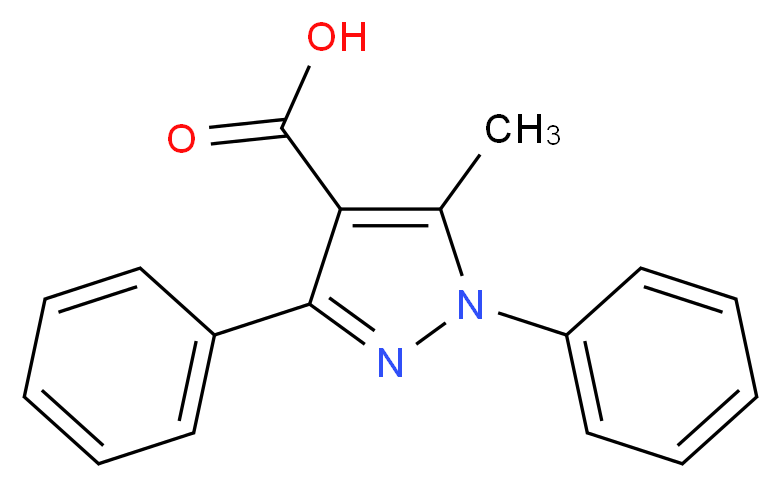 5-methyl-1,3-diphenyl-1H-pyrazole-4-carboxylic acid_Molecular_structure_CAS_15409-48-0)