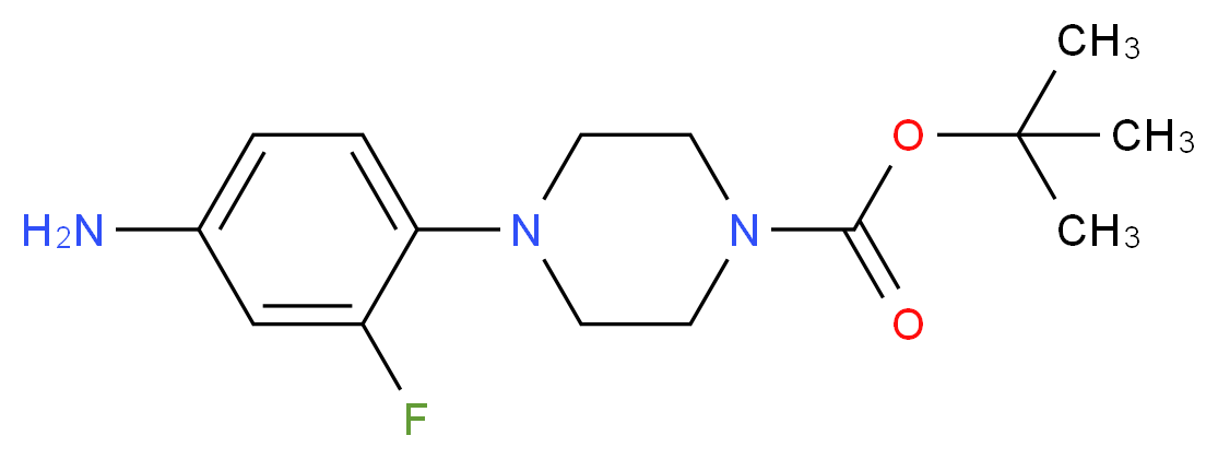 tert-Butyl 4-(4-amino-2-fluorophenyl)tetrahydro-1(2H)-pyrazinecarboxylate_Molecular_structure_CAS_1000053-23-5)